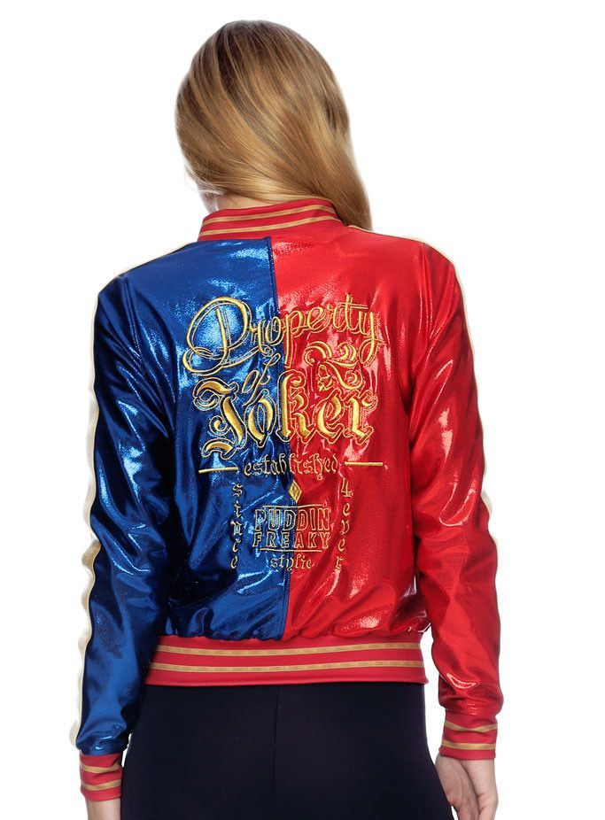 harley quinn Property of joker baseball jacket black and red or blue or red