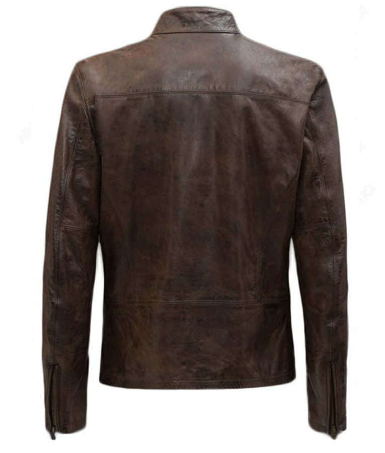 Harrison Ford Han Solo Star Wars The Force Awakens Real Brown Leather Jacket