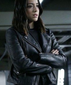Daisy Johnson Agents of SHIELD Black Leather Jacket