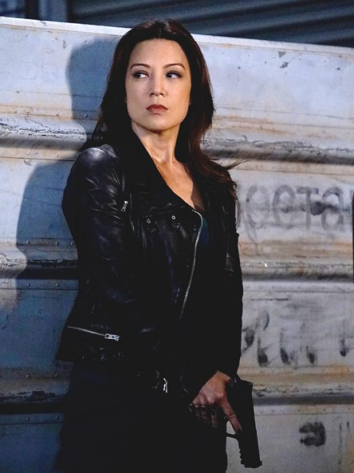 Ming Na Wen Agents Of Shield Black Leather Jacket