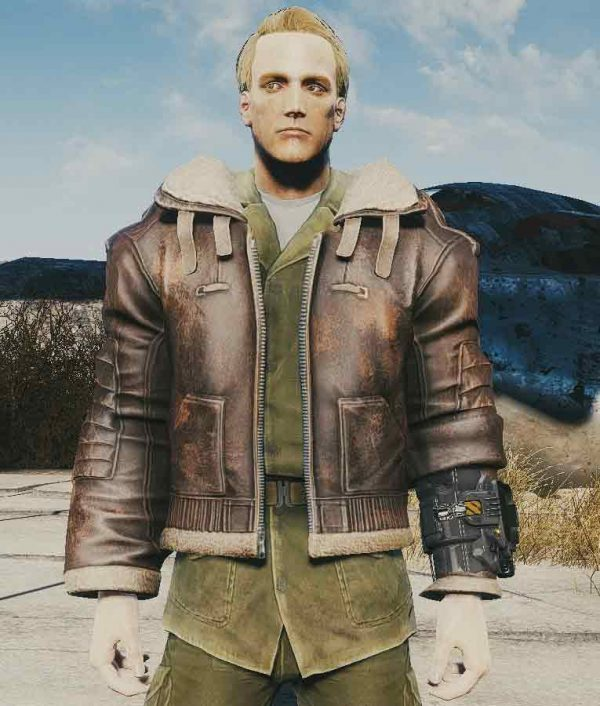 Armor Fallout 4 Video Game Brown Leather Jacket