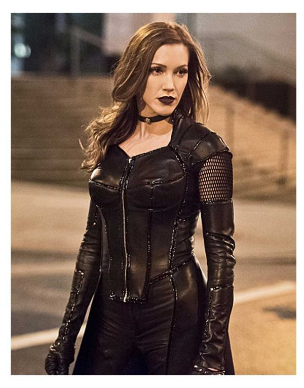 Arrow Black Siren Katie Cassidy Black Jacket
