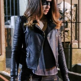 Dinah Drake Arrow Season 6 Leather Jacket