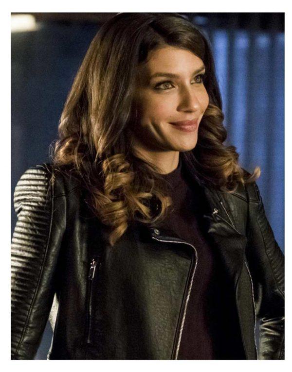 Juliana Harkavy Arrow Season 6 Black Jacket