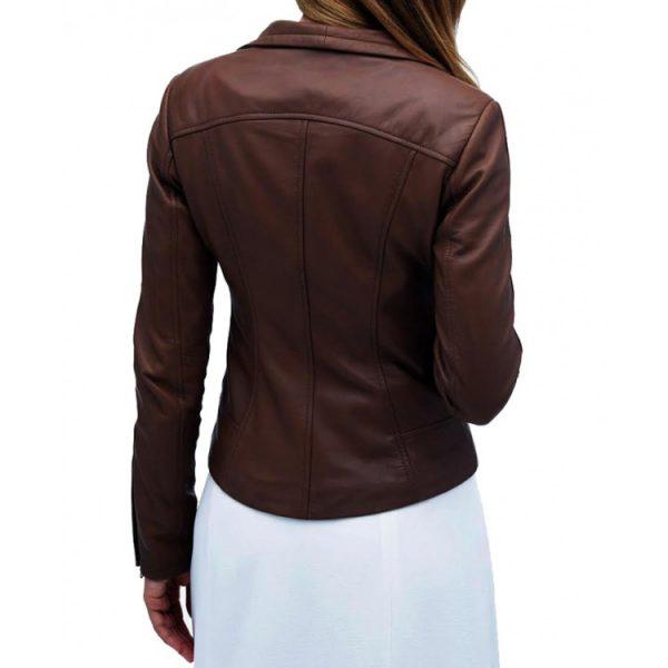 Arrow TV Series Audrey Marie Anderson Brown Jacket