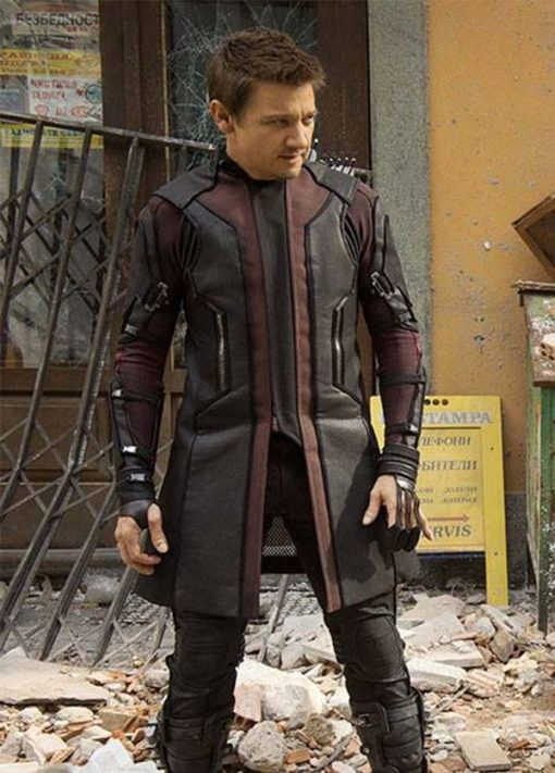 Hawkeye Age of Ultron Leather Coat
