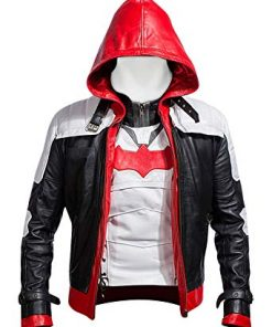 Batman Arkham Knight Leather Jacket With Vest