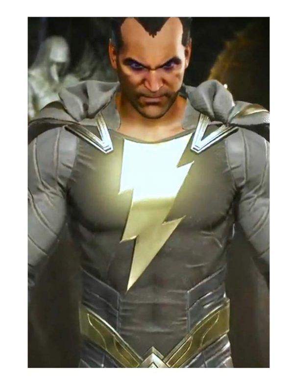 Injustice 2 Video Game Black Adam Grey Jacket