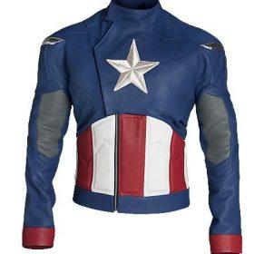 Captain America The Avengers Chris Evans Leather Jacket