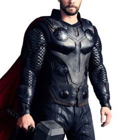 Thor Avengers Infinity War Chris Hemsworth Leather Vest