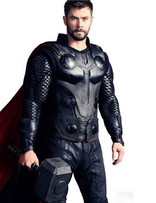 Thor Avengers Infinity War Chris Hemsworth Leather Vest
