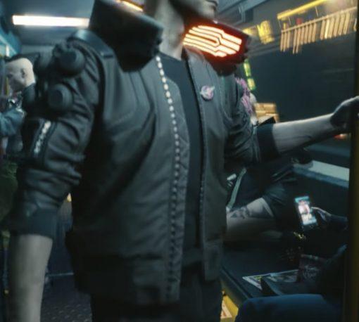 Samurai Cyberpunk 2077 Bomber Leather Jacket