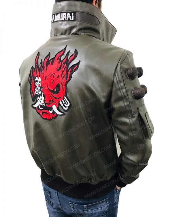 Samurai Cyberpunk 2077 Video Game Bomber Jacket
