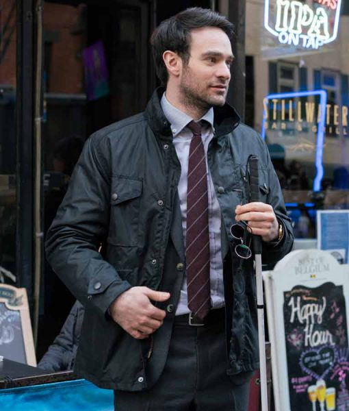 Daredevil Charlie Cox The Defenders Black Jacket