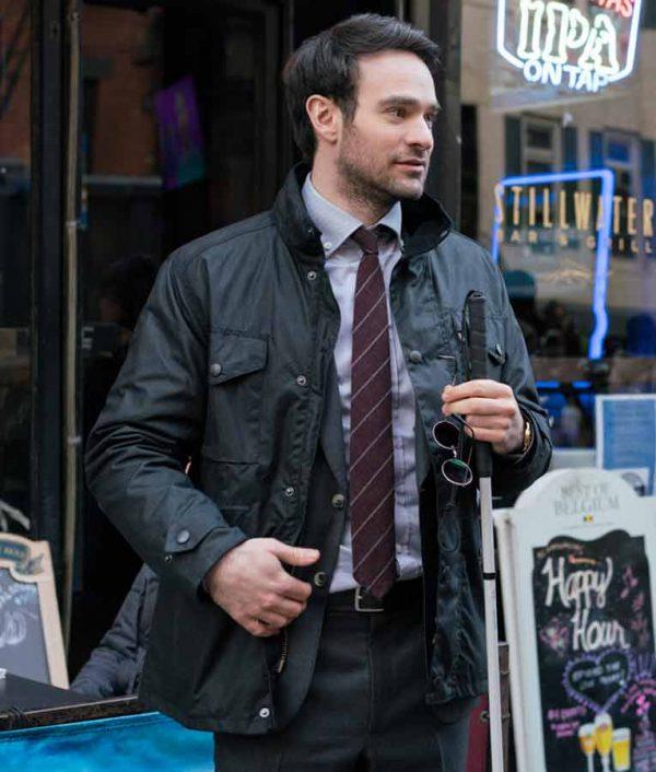 Daredevil Charlie Cox The Defenders Black Jacket