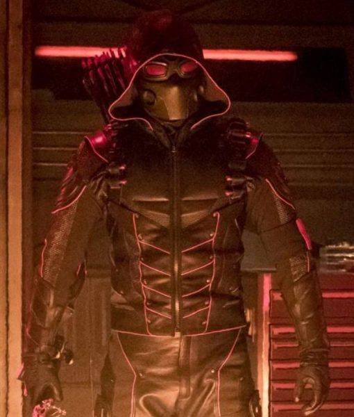 Stephen Amell Crisis On Earth X Jacket With Quiver