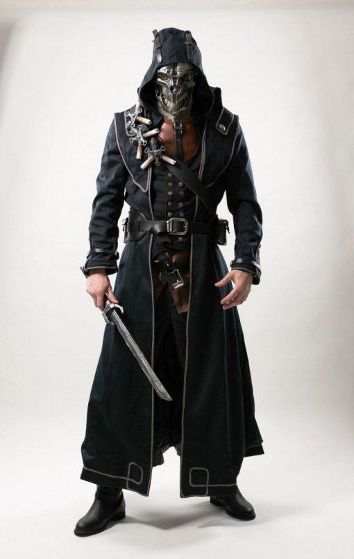 Corvo Attano Dishonored Leather Trench Coat