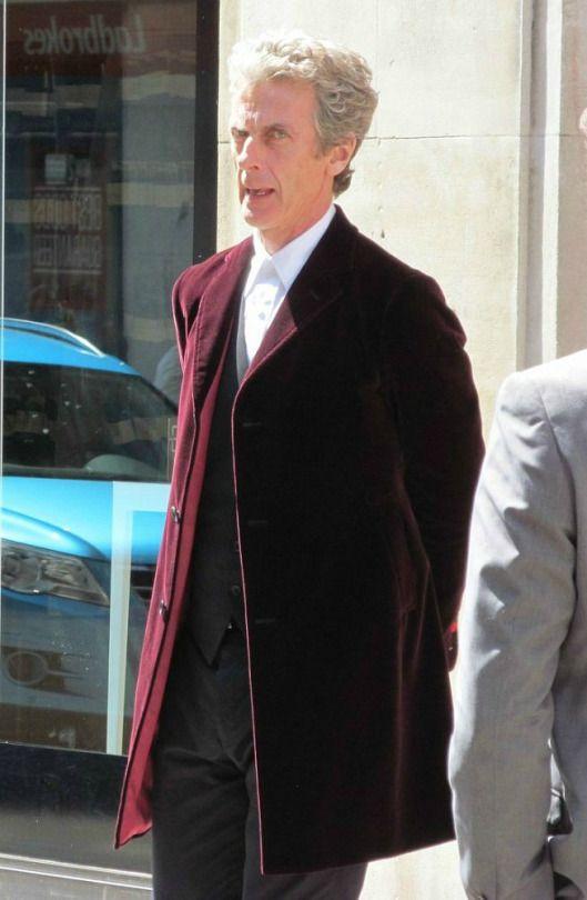 Doctor Who Peter Capaldi Velvet Coat