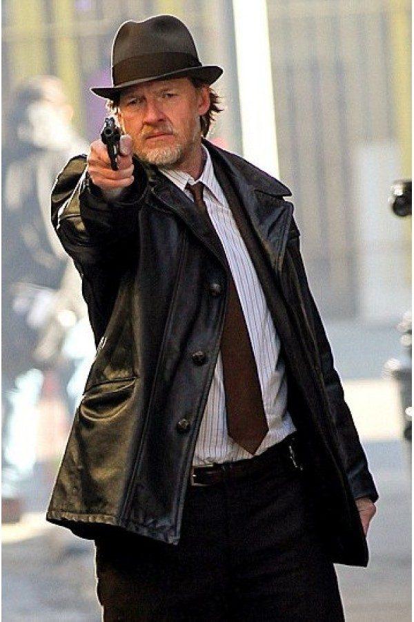 Gotham TV Series Donal Logue Mid Lenght Coat