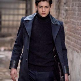 David Mazouz Gotham Blue Trench Coat