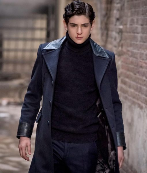 David Mazouz Gotham Blue Trench Coat