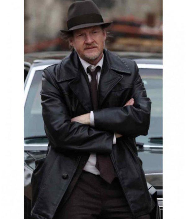 Donal Logue Gotham TV Series Leather Coat