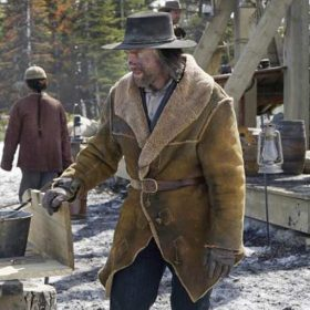 Cullen Bohannon Hell On Wheels TV Series Shearling Leather Coat