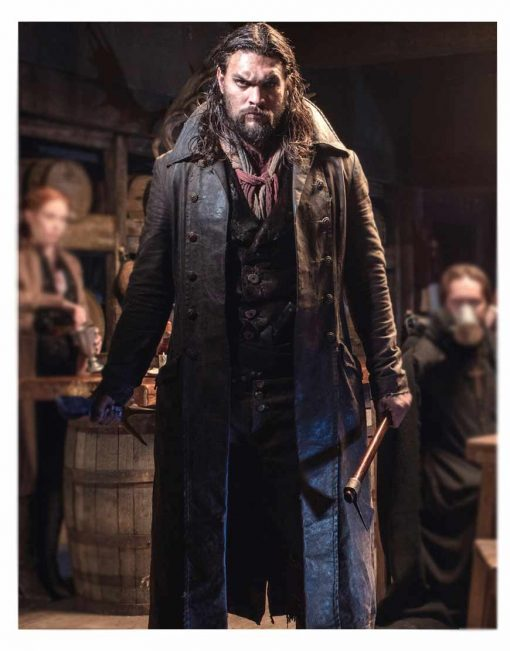 Jason Momoa Frontier Trench Leather Coat