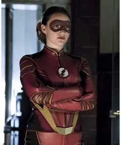 The Flash Violett Beane Leather Jacket