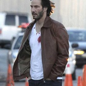 John Wick Keanu Reeves Brown Jacket