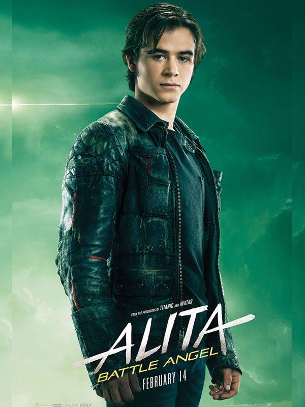 Alita Battle Angel Keean Johnson Biker Leather Jacket