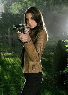 Supernatural TV Series Lauren Cohan Brown Leather Jacket