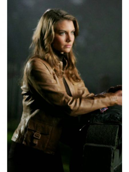 Supernatural TV Series Lauren Cohan Brown Jacket