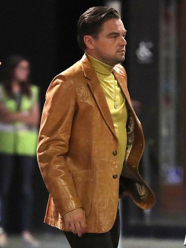 Once Upon A Time In Hollywood Leonardo DiCaprio Brown Blazer