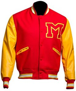 Michael Jackson Thriller M Logo Varsity Jacket