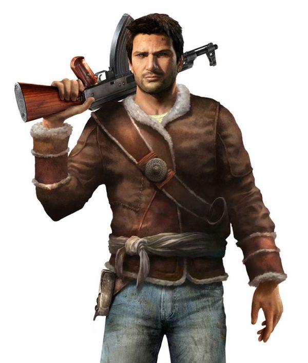 Uncharted Video Game Nathan Drake Brown Jacket