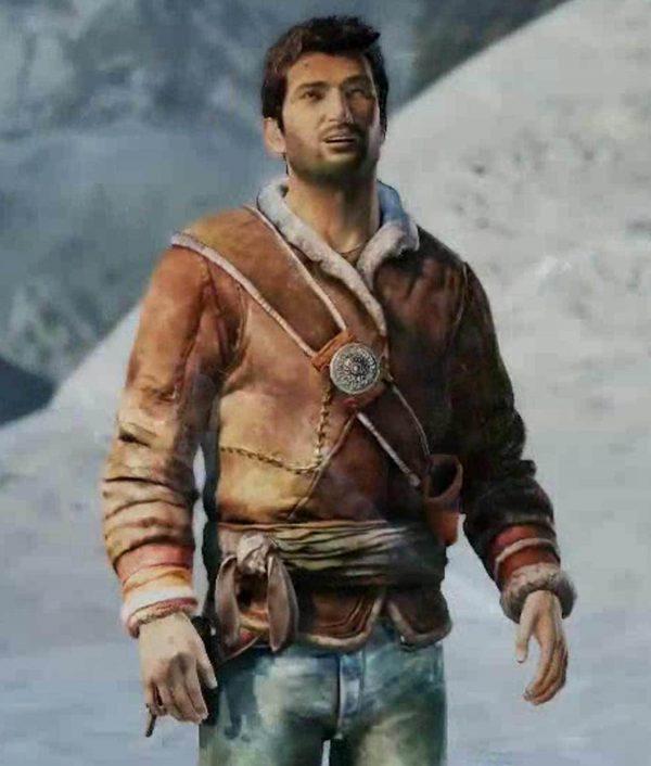 Uncharted Nathan Drake Brown Winter Jacket