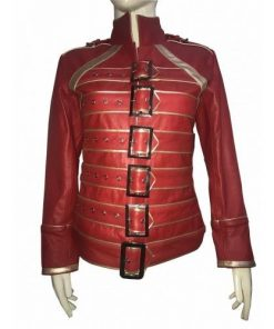 Queen Rock Band Military Style Red Jacket