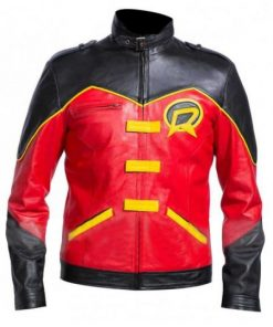 Tim Drake Red Robin Leather Jacket