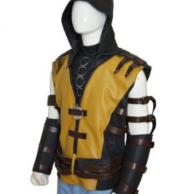 Mortal Kombat X Scorpion Leather Jacket