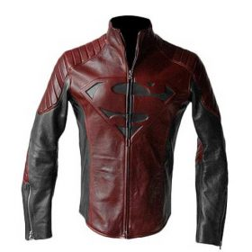 Smallville Tom Welling Black And Maroon Jacket