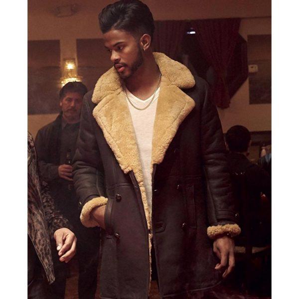 Trevor Jackson SuperFly Brown Trench Coat