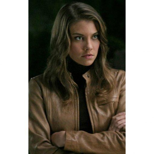 Bela Talbot Supernatural TV Series Brown Leather Jacket