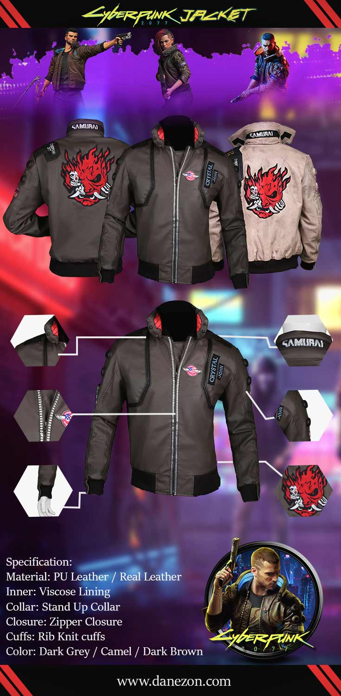 Cyberpunk 2077 Jacket Info graph