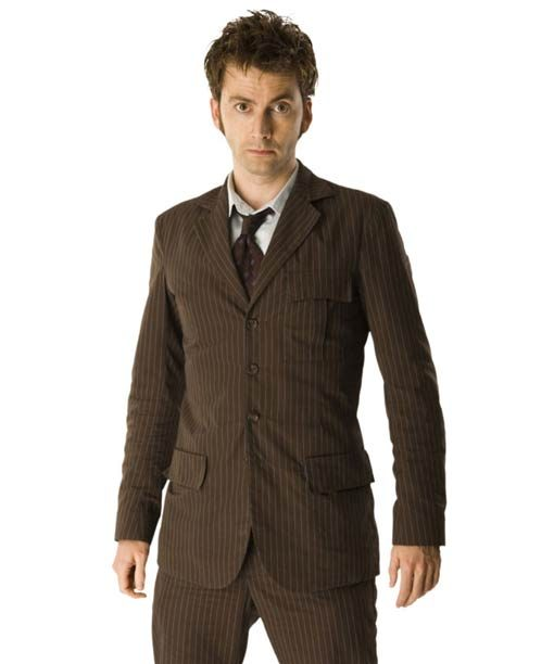 David Tennant Tenth Doctor Who Brown Suit