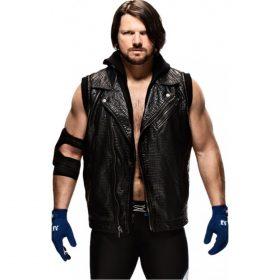 AJ Styles WWE Crocodile Leather Vest
