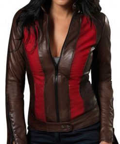 Jessica Biel Leather Jacket