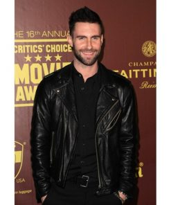 Adam Levine Biker Leather Jacket