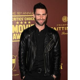 Adam Levine Biker Leather Jacket