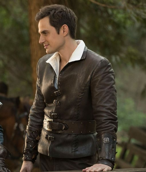 Once Upon A Time Andrew J. West Brown Leather Jacket